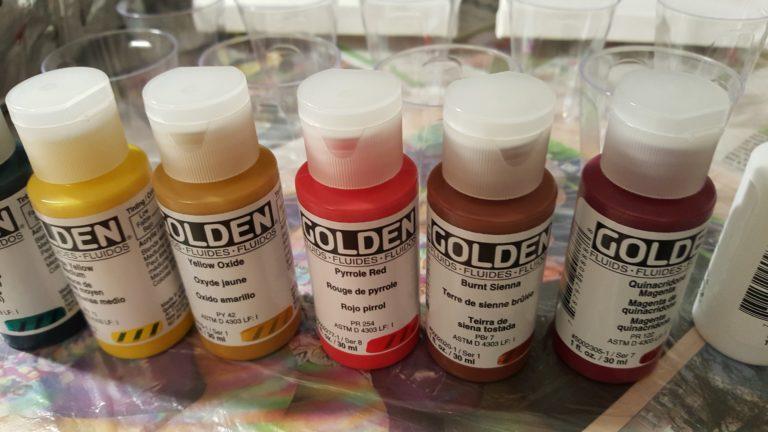 Peinture Acrylique Fluide GOLDEN pour Pouring Pouring Technique Peinture