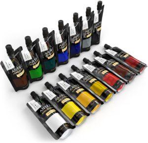 SET couleurs ACRYLIQUE ARTEZA Fluid Art Matériel
